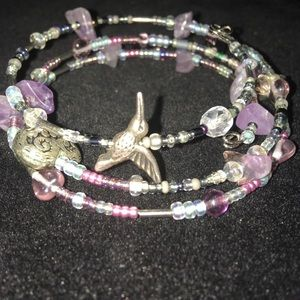 Jewelry - Amethyst wrapped bracelet